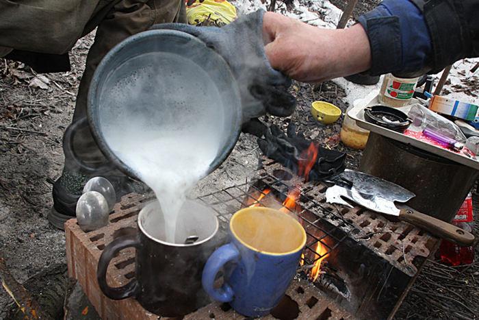 vaření v zimě