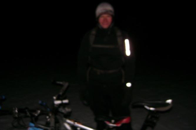 Noční cyklo radovánky, aneb zimní koupel