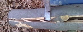 Štiepanie dreva – foto návod