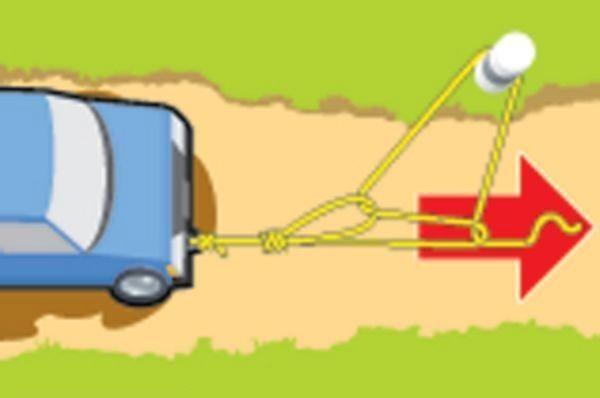 Vytažení zapadlého auta – návod
